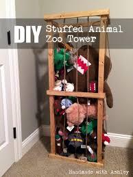 DIY Stuffed Animal Zoo Tower