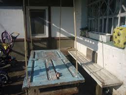 wooden hanging table door repurposing diy