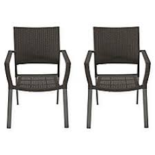 plastic patio chairs. Exellent Plastic Barrington Square Stacking Wicker Chairs Set Of 2 Inside Plastic Patio O