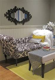 office chaise lounge. Hollywood Glamour Chaise Lounge In Black And White. This Girly Den Or Office Can Be O