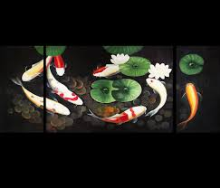 feng shui art for office. Feng Shui Fish Painting Koi Art Contemporary Modern Wall Decor Prints On Canvas For Office E