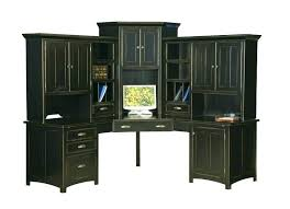 home office desk with hutch. Home Office Desk With Hutch Black Large Corner Computer Center . R