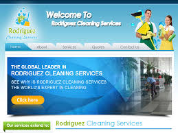 cleaning company website designing portfolio rodriguez cleaning services janitorial services louisville