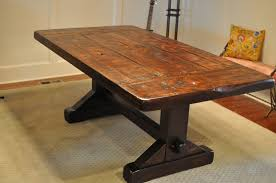 Image of: Rustic Trestle Dining Table Furniture
