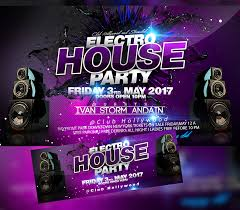 Part Flyer Electro House Party Flyer Experience I For Your Awesome Parties