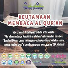 Pengertian tpq taman pendidikan al qur'an. Keutamaan Membaca Al Qur An Tkii Al Abidin