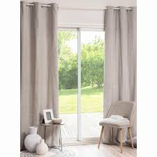 comiso grey white eyelet curtain 110 x 250 cm
