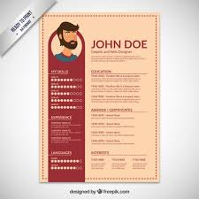 Resume template flat design Free Vector