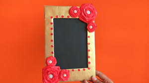 diy how to make photo frame at home cardboard photo frame best out of waste