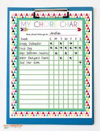 Free Printable Chore Charts Organization Printable Chore