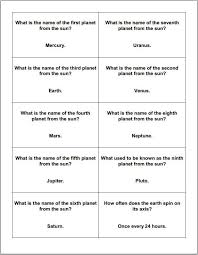 Astronomy and Planets Printable Trivia Question Cards | Worksheets ...