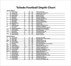 Football Depth Chart Creator 9 Football Depth Chart Templates Doc Pdf Excel Free