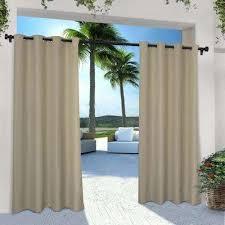 indoor outdoor solid 54 in w x 108 in l grommet top curtain panel