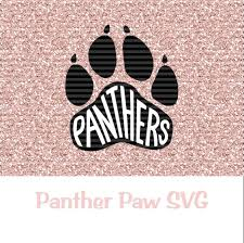 Panther Paw Embroidery Design Panther Paw Svg Panther Logo Panther Logos