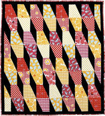 23 best Tumbler Quilts images on Pinterest | Tumbler quilt ... & Bamboo Quilt Pattern Two color families set against a dramatic background  give this upbeat and funky Adamdwight.com