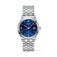 longines flagship automatic men s blue dial steel bracelet watch