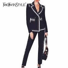 TWOTWINSTYLE <b>Elegant</b> Solid <b>Jumpsuit</b> For <b>Women V Neck</b> ...