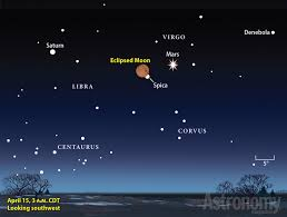 The Totally Eclipsed Moon On April 14 15 Lies In The Southern