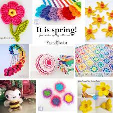 Free Spring Free Crochet Patterns It Is Spring Yarn Twist