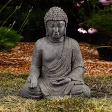A Garden Buddha Statue Outdoor Backyard Lawn Yard Sculpture Patio Porch  Sitting