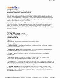 Assembly Line Resume Luxury Resume Key Skills Examples Examples Of