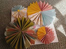 Paper Rosette Flower Oh Crafty Day Beautiful Paper Rosette Flower Wall Art