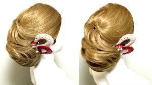 着物髪型毛流れのあるかっちりしすぎない和髪シニヨン Youtube