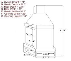 gas fireplace dimensions standard wood burning fireplace dimensions standard gas fireplace insert dimensions