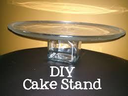 make cake stand glass