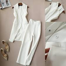 Spring and Autumn New <b>Korean Suit</b> Two Sets Tide Long Vest ...