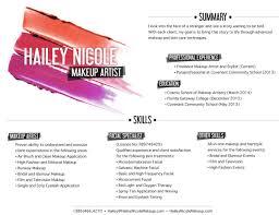Resume For Makeup Artist Makeup Artist Resume Sample