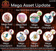 New Info - Asset Update - Mega Pokemon added to the game! : TheSilphRoad
