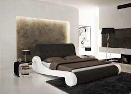 unique bed frames. Superb Design Of The Unique Bed Frames With Black Fur Rugs Ideas Added White Wall Q