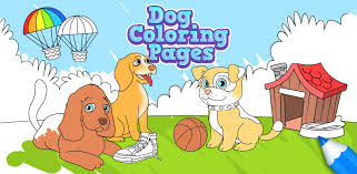 Small Picture Dog Coloring Pages for Kids Free Android iPhone iPad app