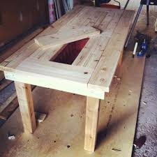 Diy patio table Concrete Diy Patio Table Bench Ana White Ana White Diy Patio Table Bench Diy Projects