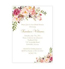 shower invitation templates bridal shower invitation template romantic blossoms printable diy
