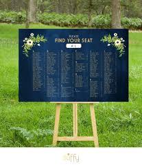 45 On Etsy The Alyssa Wedding Seating Chart Gold