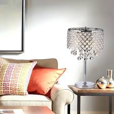 chrome round crystal chandelier bedroom nightstand table lamp 3 light fixture lamps