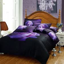 dark gray duvet cover king 3d flower rose dark purple bedding set high quality cotton fl