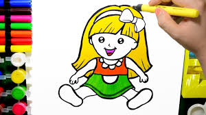 Small Picture How to Draw Color Paint Cute Baby Doll Coloring Page and Learn to