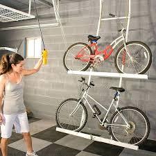 garage bicycle storage unique ceiling bike rack for diy wall
