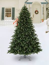 ... Best Artificial Christmas Trees With Led Lights Allegheny Evergreen  Outdoor Artificial Christmas Trees With Signature Balsam ...