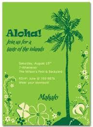 Printable Hawaiian Party Invitation Template