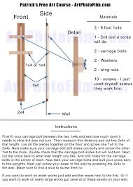 Easel Design Plans Another Diy Large Wall Easel Plan 20 By Pw Lawrence Art