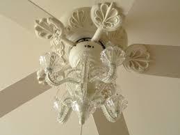 image of acrylic crystal chandelier type ceiling fan light kit
