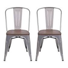 armless metal dining chairs. carlisle high back metal dining chair - set of 2 : target in natural armless chairs
