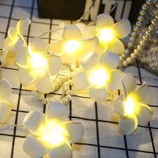 Plumeria LED String Lights Simulation <b>Frangipane</b> Hanging <b>Garden</b> ...