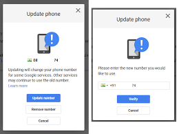 How To Change Your Phone Number How To Change Registered Mobile Number In Google Gmail Error Fixer