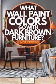 what wall paint colors go with dark