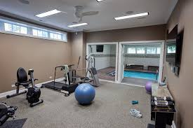 indoor gym pool. Cool Total Gym Xls In Home Traditional With Swim Spa Next To Indoor Swimming Pool